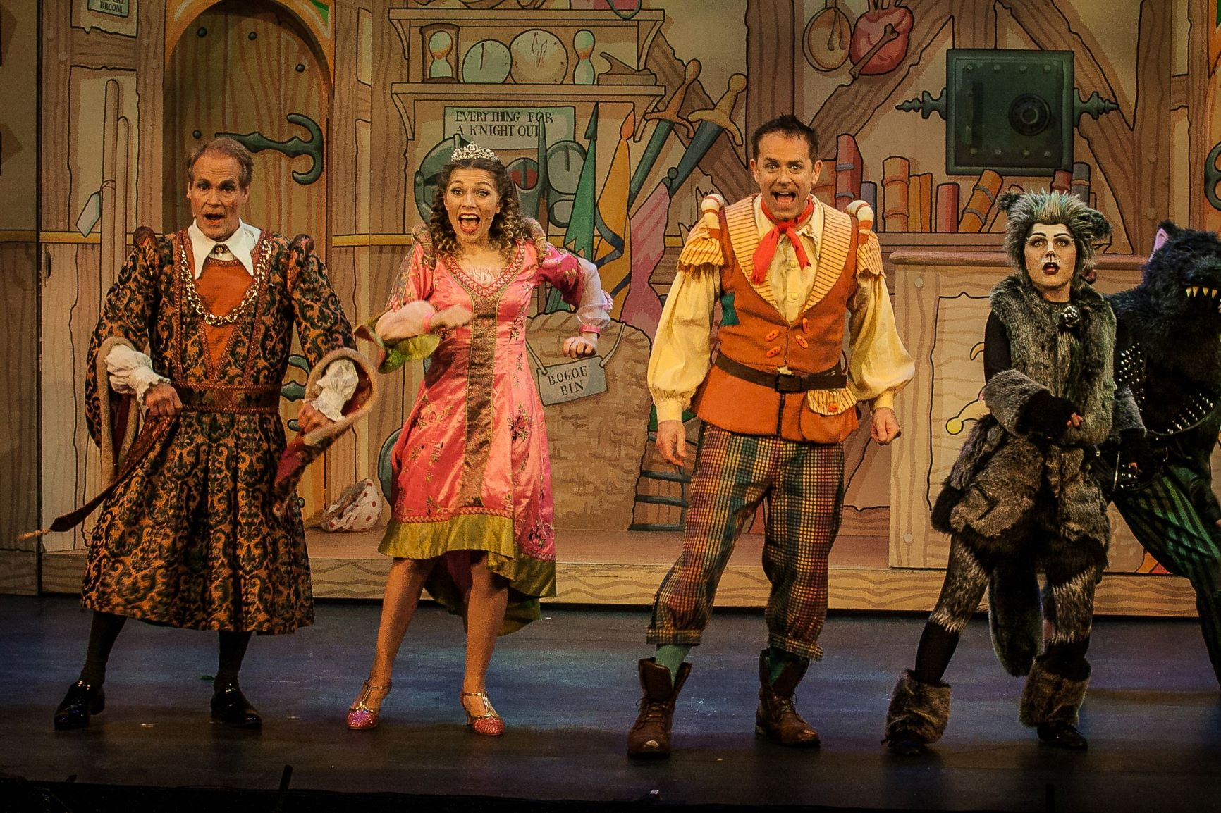 Chris Jarvis (second right) as his award winning title role of Dick Whittington